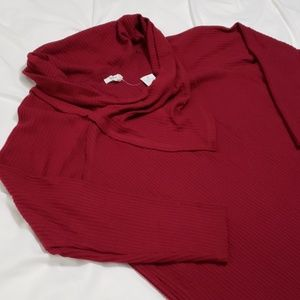 Maurices Cowl Neck Henley Tee NWT